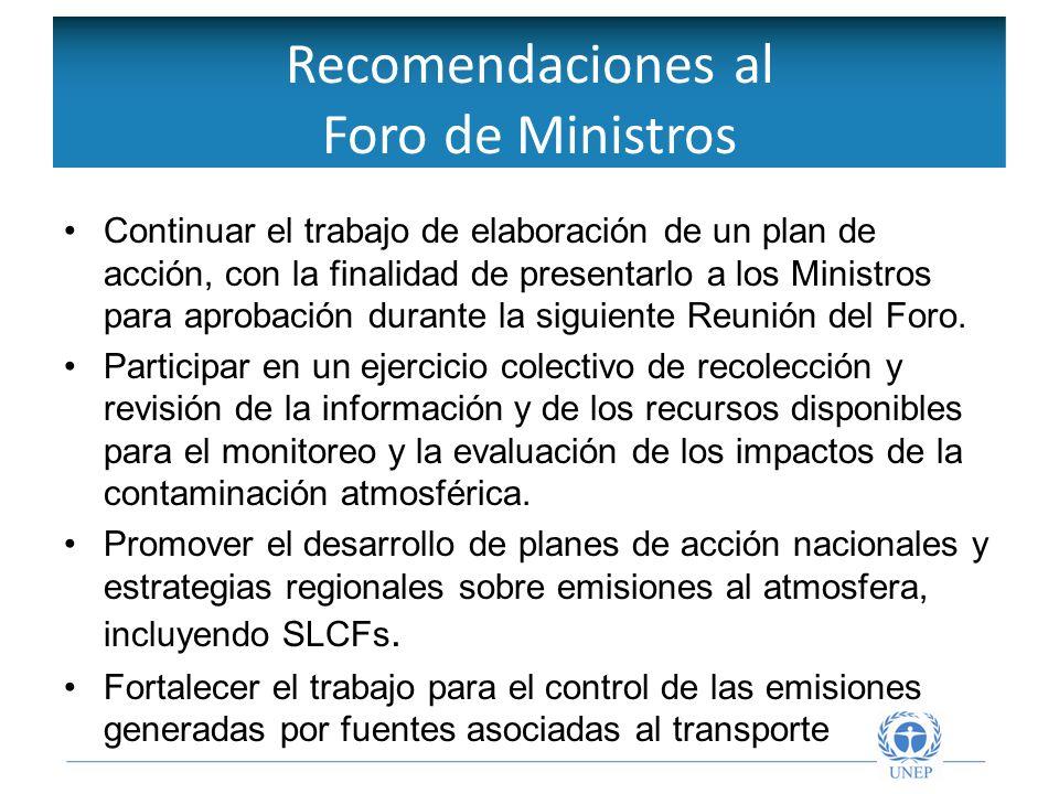 Objetivos de la Red Intergubernamental Continuar el trabajo de elaboración de un plan de acción, con la finalidad de presentarlo a los Ministros para