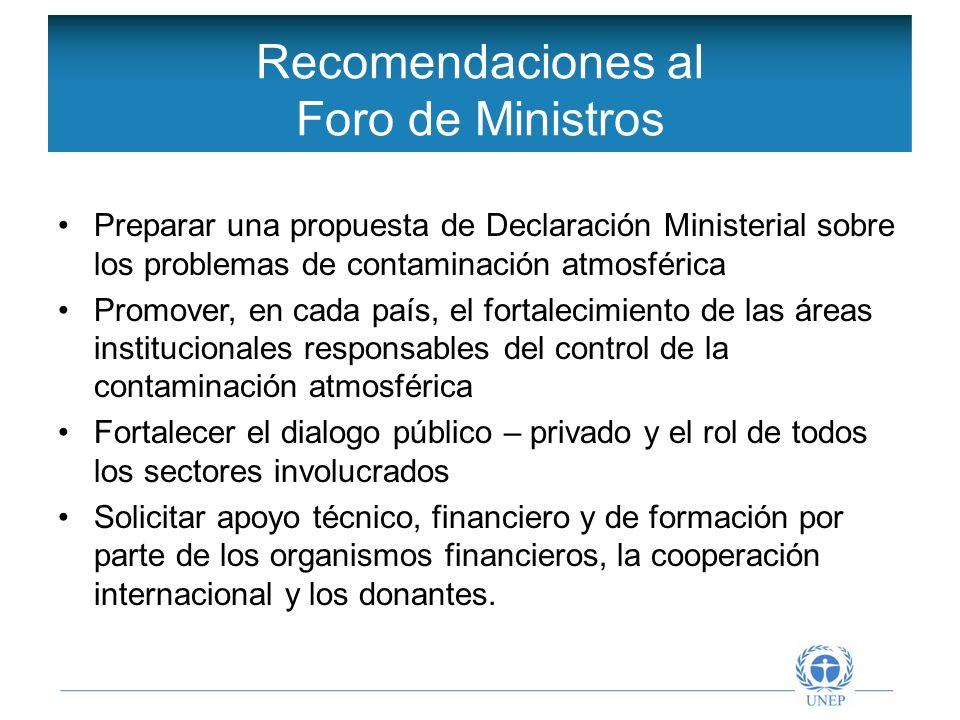 Objetivos de la Red Intergubernamental Preparar una propuesta de Declaración Ministerial sobre los problemas de contaminación atmosférica Promover, en