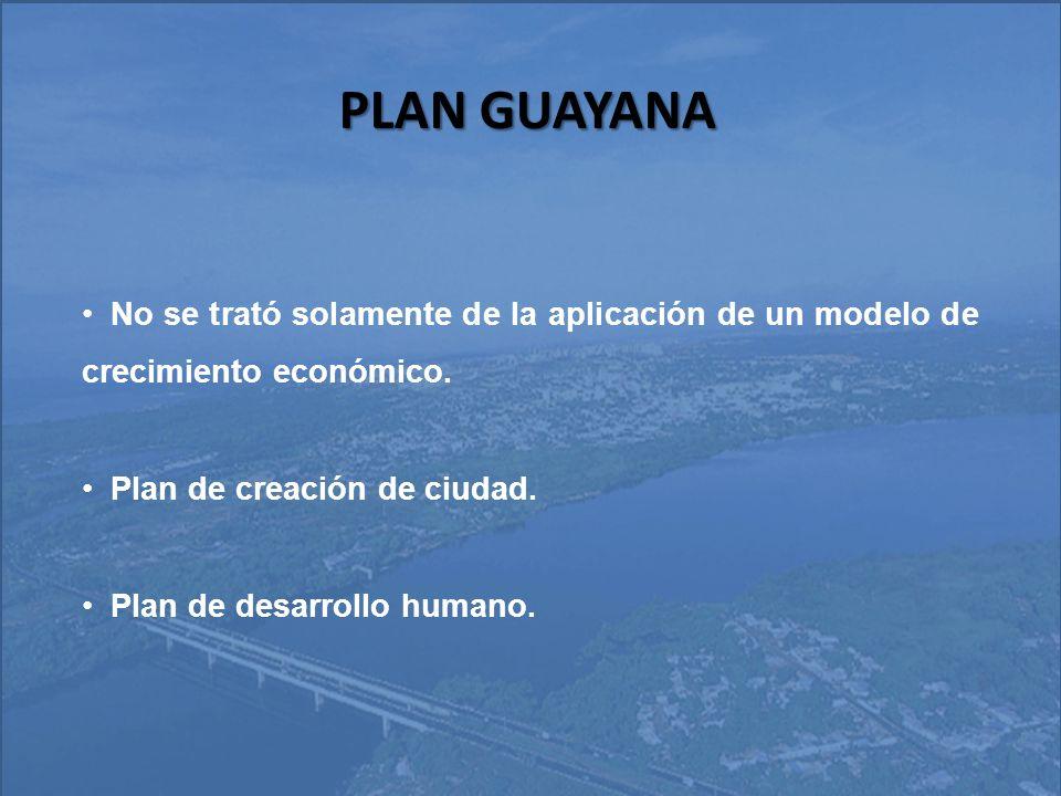 PLAN GUAYANA LA CVG La CVG se crea como organismo del Estado con facultad para planificar y ejecutar el desarrollo industrial, económico, y social de la región Guayana.