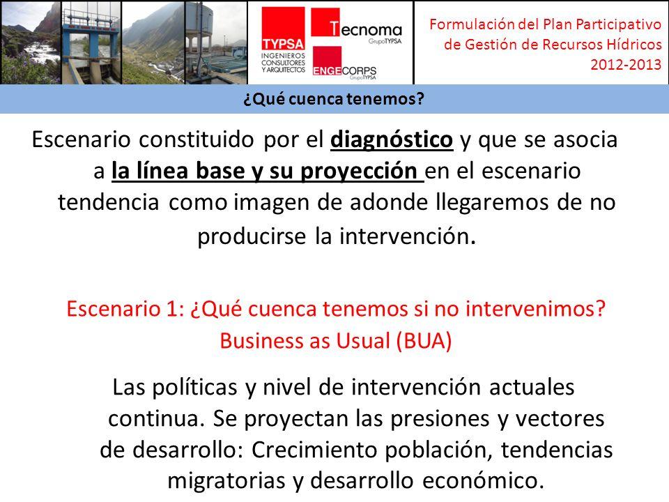 Formulación del Plan Participativo de Gestión de Recursos Hídricos 2012-2013