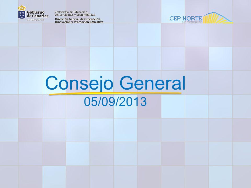 Consejo General 05/09/2013