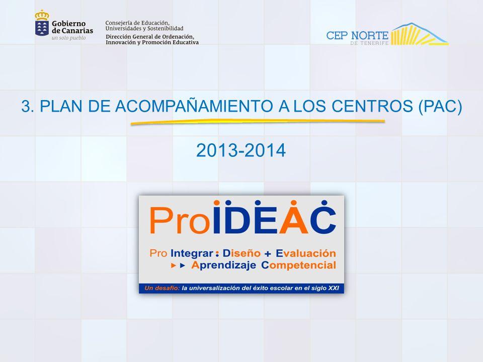www.gobiernodecanarias.org/educacion/pekweb/proideac 3.1 Aplicación web ProIDEAC Es necesario que el docente esté dado de alta en Pincel Ekade de su centro.