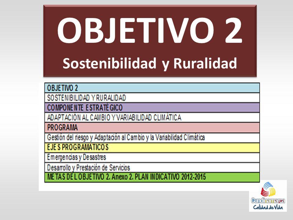 OBJETIVO 2 Sostenibilidad y Ruralidad OBJETIVO 2 Sostenibilidad y Ruralidad