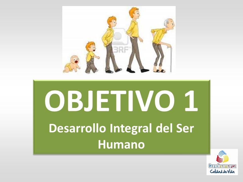 OBJETIVO 1 Desarrollo Integral del Ser Humano OBJETIVO 1 Desarrollo Integral del Ser Humano