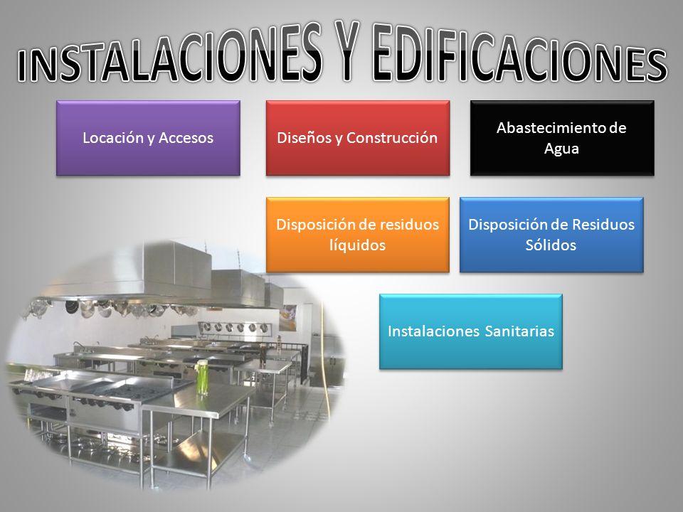 Abastecimiento de Agua Disposición de Residuos Sólidos Disposición de residuos líquidos Diseños y Construcción Locación y Accesos Instalaciones Sanita