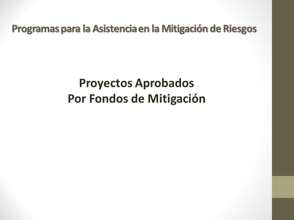 Proyectos Aprobados Por Fondos de Mitigación