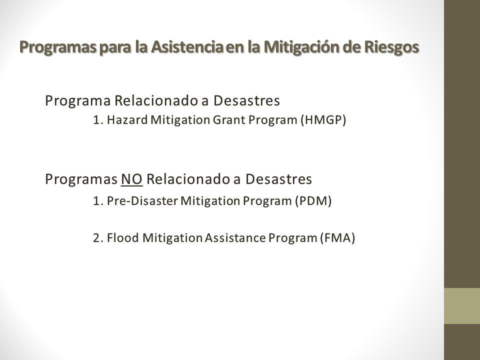 Programas para la Asistencia en la Mitigación de Riesgos