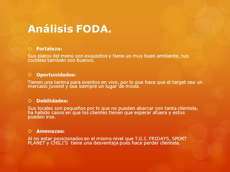 Análisis FODA.