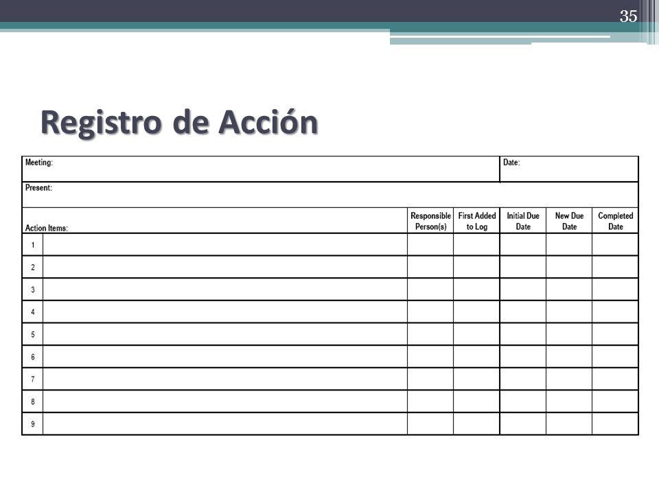 Registro de Acción 35