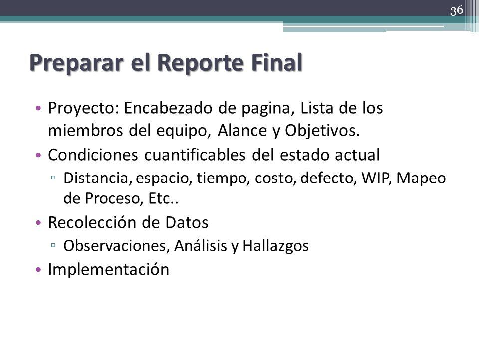 Preparar el Reporte Final Proyecto: Encabezado de pagina, Lista de los miembros del equipo, Alance y Objetivos. Condiciones cuantificables del estado