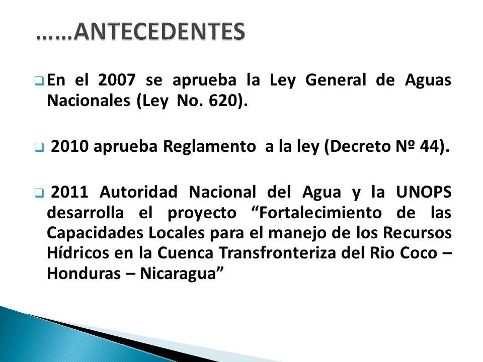 Se conformaron cuatro Comité de Sub Cuenca: Sub cuenca Rio Dipilto Sub cuenca Rio Macuelizo Sub cuenca Rio Mozonte Sub cuenca Rio Poteca