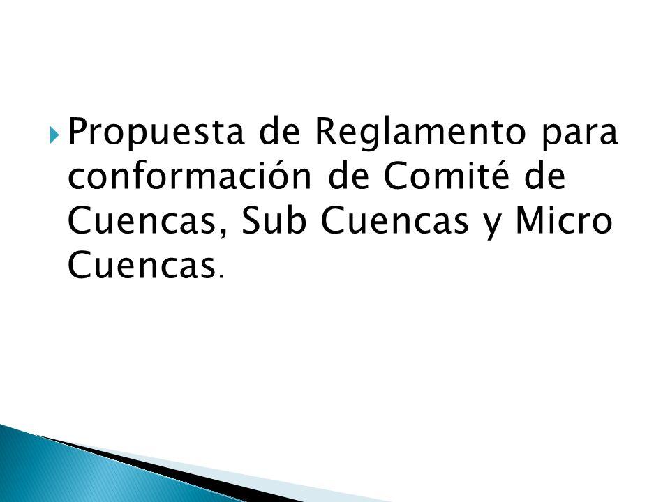 Promover la participación ciudadana en la gestión Integrada de los Recursos Hídricos Facilitar el proceso de conformación de los comités