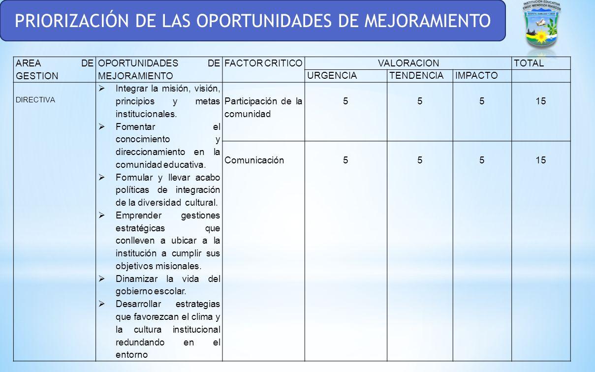 ETAPAS PREVIAS PARA LA ELABORACIÓN DEL PLAN DE MEJORAMIENTO