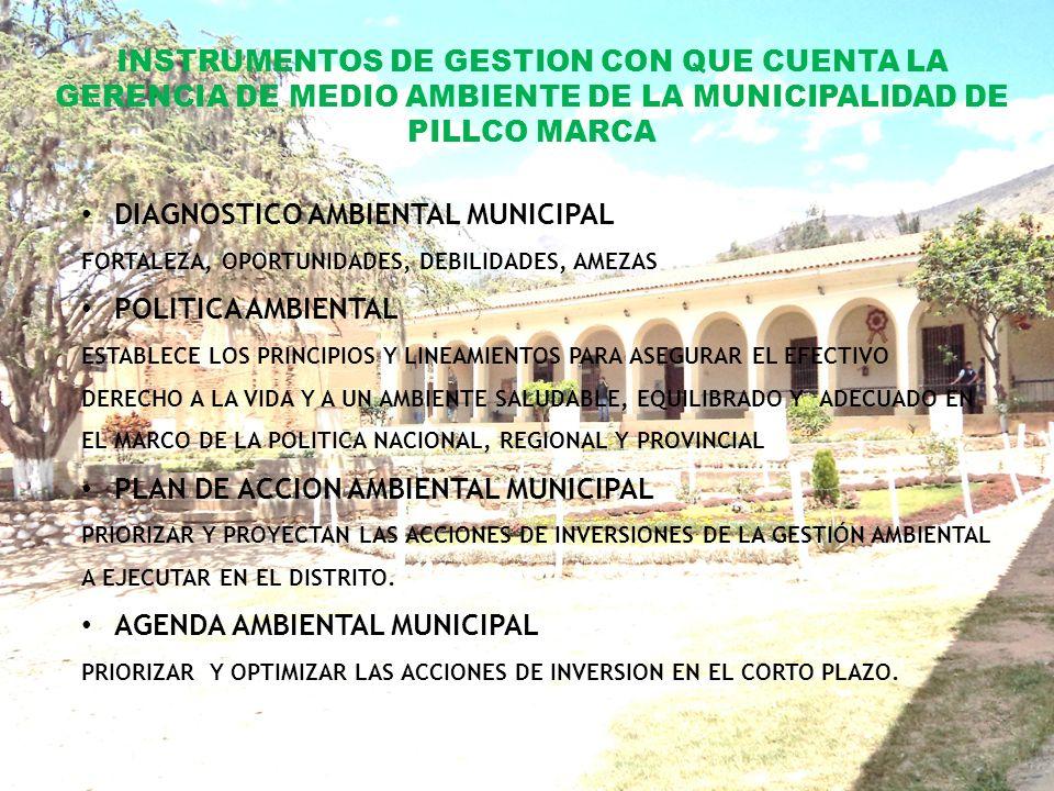 PARTICIPACION DE LA MUNICIPALIDAD DE PILLCO MARCA EN EL PROGRAMA DE SEGREGACIÓN DE RESIDUOS SOLIDOS EN LA FUENTE.