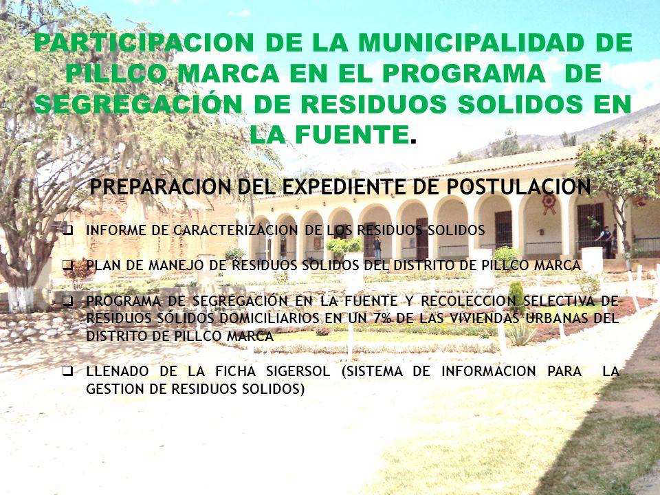 EXPERIENCIAS LOGRADAS EN GESTION DE RESIDUOS SOLIDOS POR LA MDPM COORDINACION INTERINSTITUCIONAL PARA EL PROGRAMA DE ACOPIO DE RR.SS