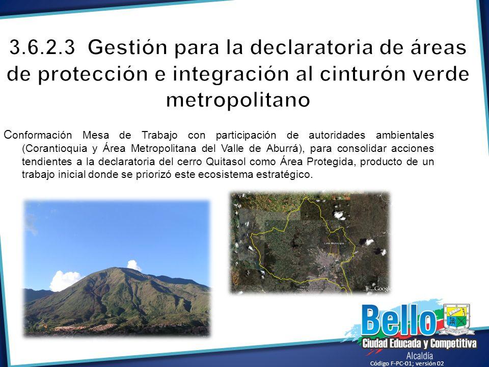 C onformación Mesa de Trabajo con participación de autoridades ambientales (Corantioquia y Área Metropolitana del Valle de Aburrá), para consolidar ac
