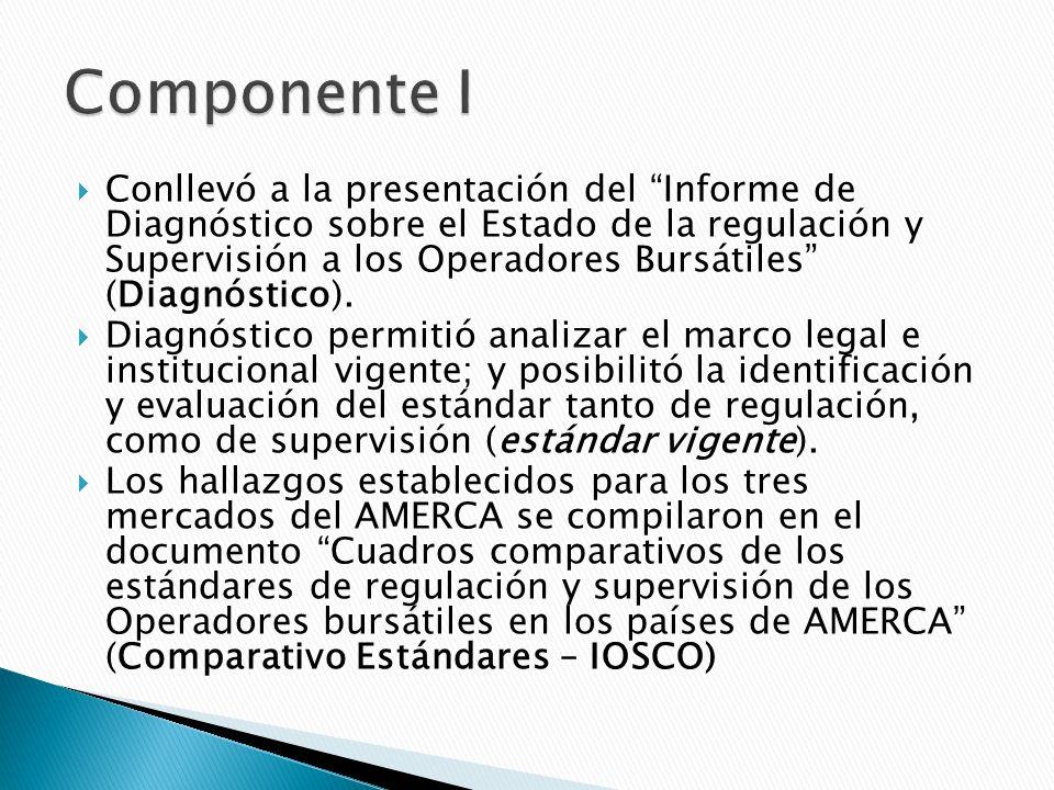 Conllevó a la presentación del Informe de Diagnóstico sobre el Estado de la regulación y Supervisión a los Operadores Bursátiles (Diagnóstico).