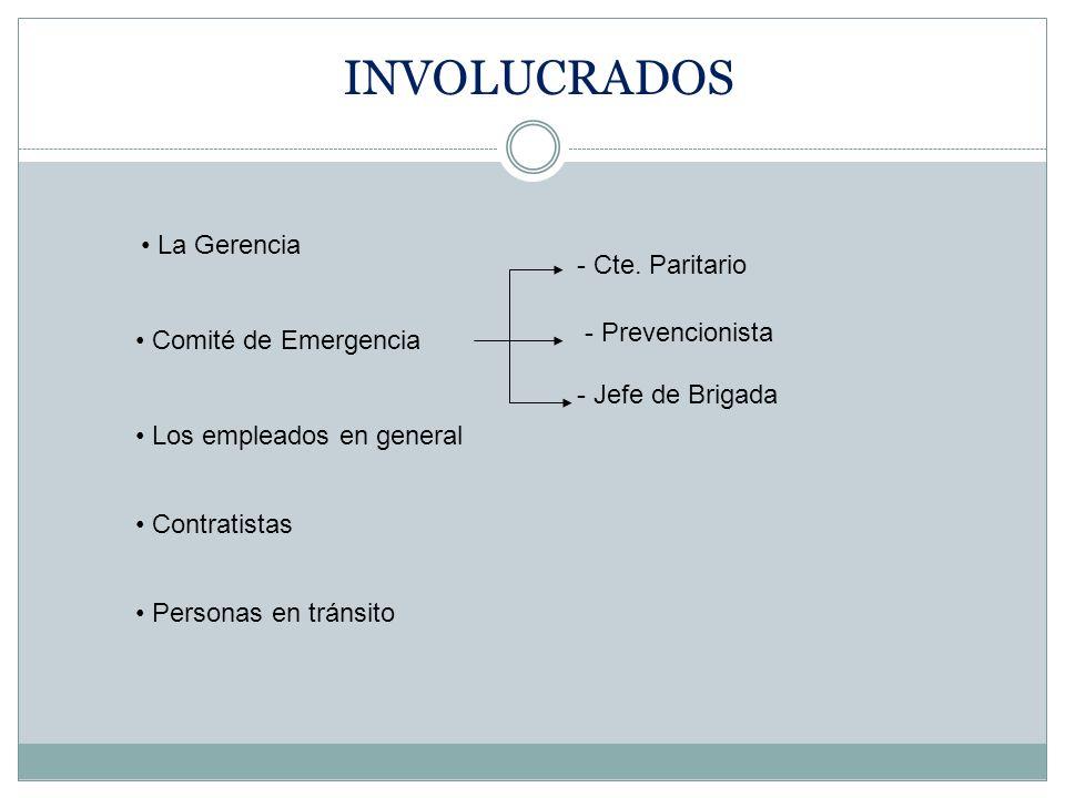 La Gerencia Comité de Emergencia - Cte.