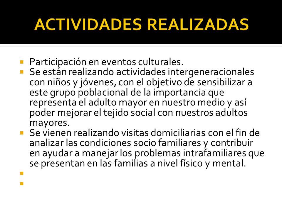 Participación en eventos culturales.