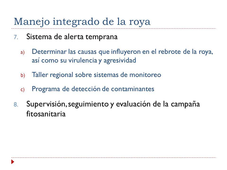 1) La roya está presente 2) Prepararse para las lluvias 3) Aplicación de fungicidas 4) La poda en el cafetal 5) Buenas prácticas agrícolas Disponible