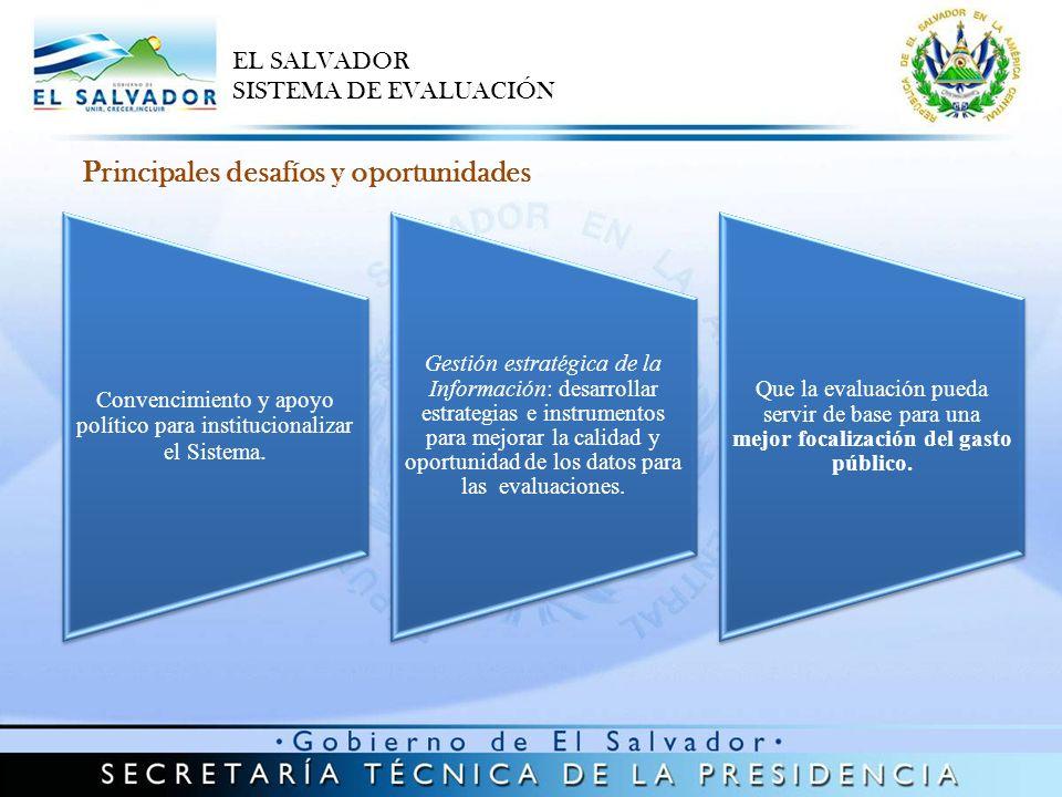 Convencimiento y apoyo político para institucionalizar el Sistema. Gestión estratégica de la Información: desarrollar estrategias e instrumentos para