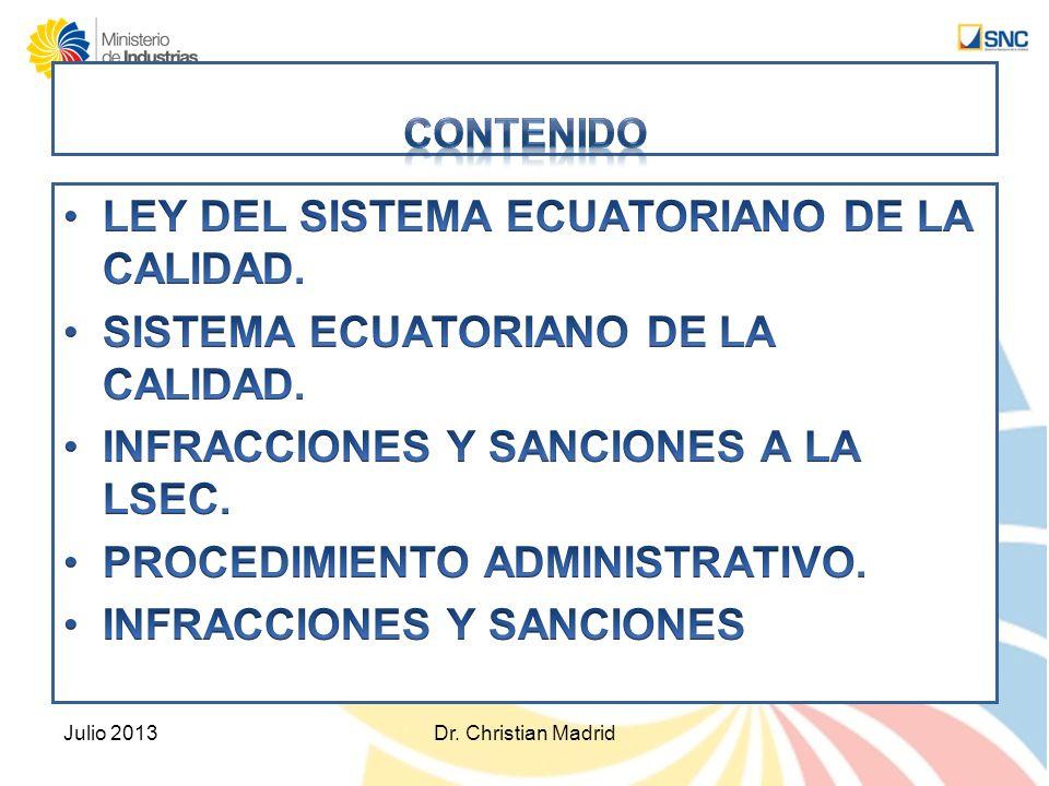 De la denuncia Julio 2013Dr.Christian Madrid Art.
