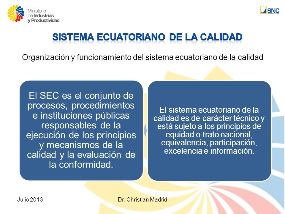 Julio 2013Dr. Christian Madrid