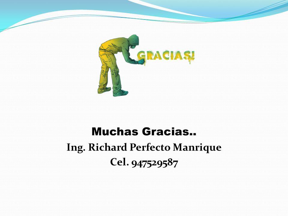 Muchas Gracias.. Ing. Richard Perfecto Manrique Cel. 947529587