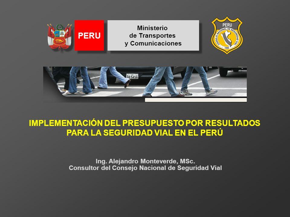 Ministerio de Transportes y Comunicaciones Ministerio de Transportes y Comunicaciones PERU La Organización Mundial de las Salud (2004) afirmó: Cada día, miles de personas pierden la vida o sufren traumatismos en nuestras calles y carreteras.