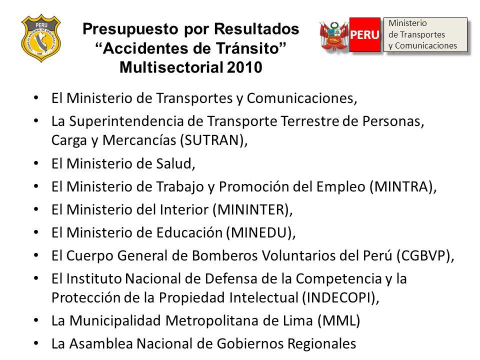 Ministerio de Transportes y Comunicaciones Ministerio de Transportes y Comunicaciones PERU El Ministerio de Transportes y Comunicaciones, La Superinte