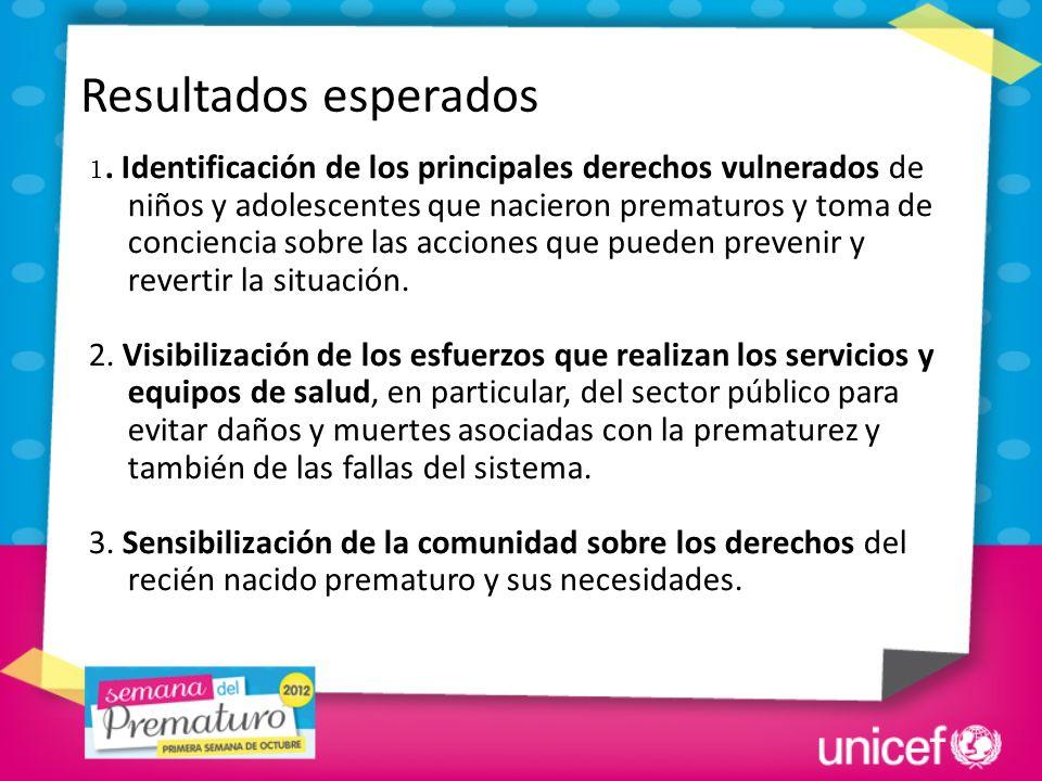 1. Identificación de los principales derechos vulnerados de niños y adolescentes que nacieron prematuros y toma de conciencia sobre las acciones que p