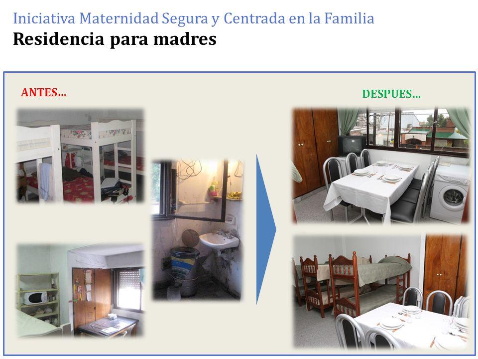 Residencia para madres Iniciativa Maternidad Segura y Centrada en la Familia ANTES… DESPUES…