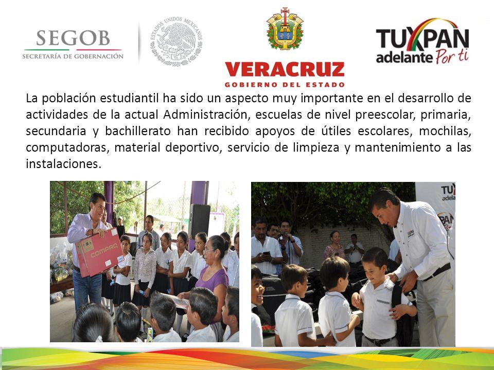 La población estudiantil ha sido un aspecto muy importante en el desarrollo de actividades de la actual Administración, escuelas de nivel preescolar,