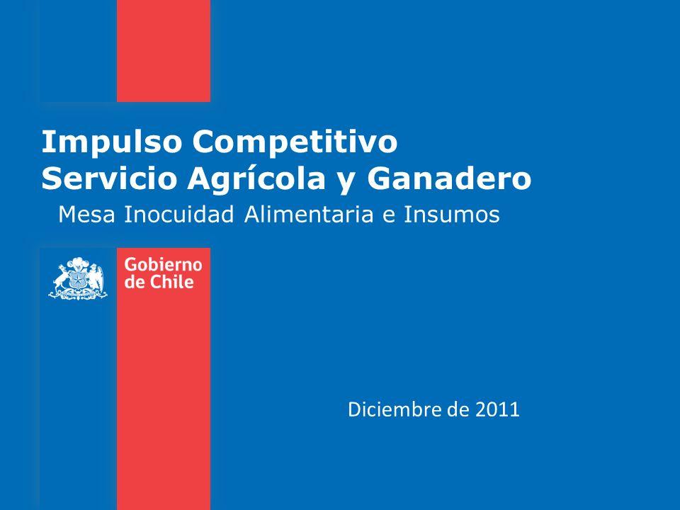 Impulso Competitivo Servicio Agrícola y Ganadero Mesa Inocuidad Alimentaria e Insumos Diciembre de 2011