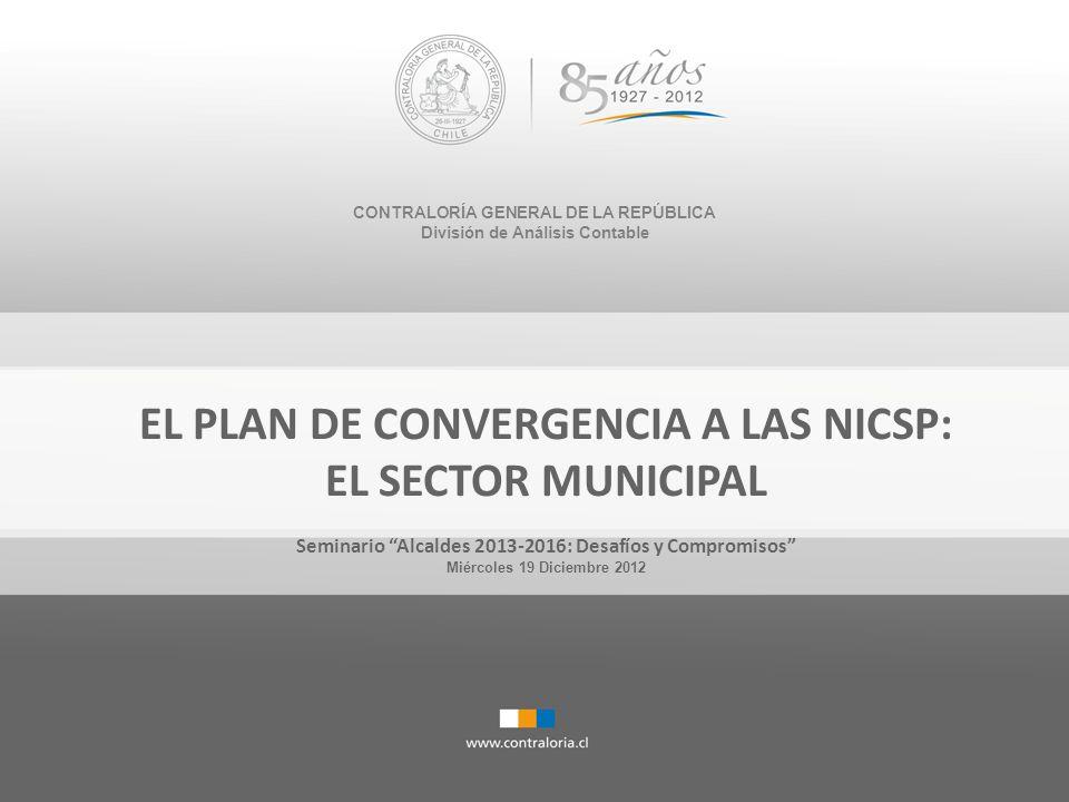 Esta presentación: PLAN NICSP 1.El Plan de convergencia a NICSP en Chile 2.