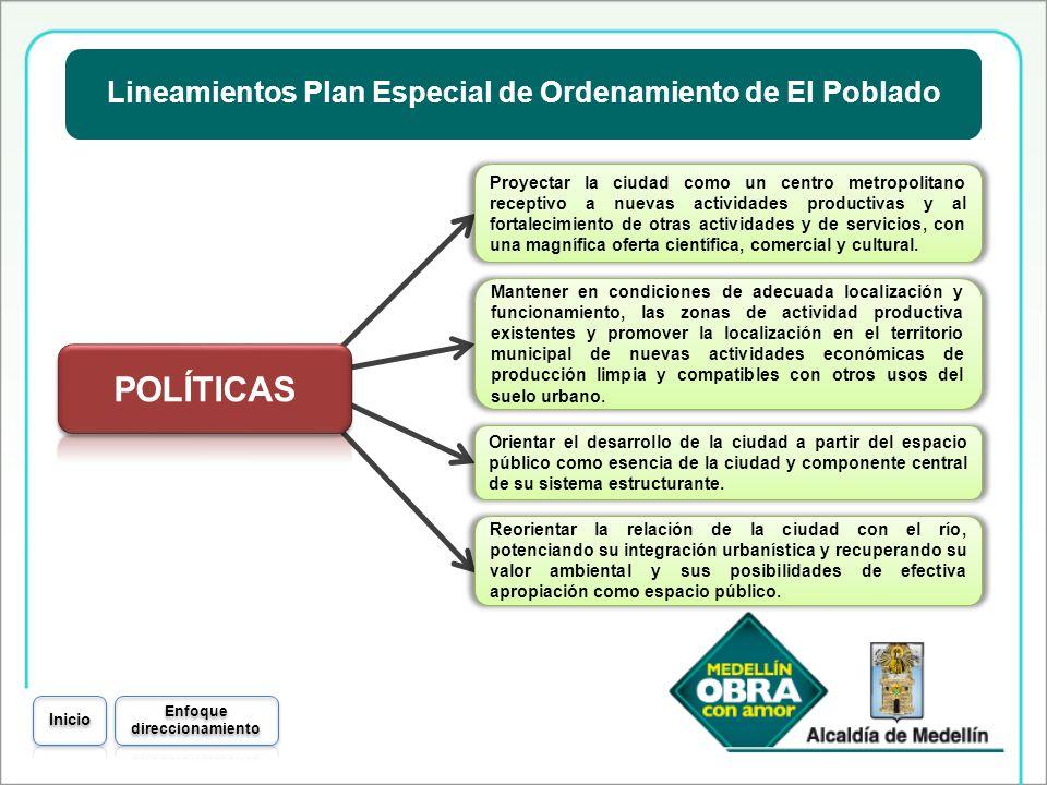 Lineamientos Plan Especial de Ordenamiento de El Poblado Proyectar la ciudad como un centro metropolitano receptivo a nuevas actividades productivas y