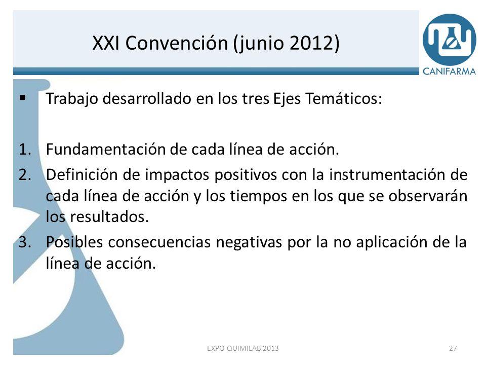 Trabajo desarrollado en los tres Ejes Temáticos: 1.Fundamentación de cada línea de acción. 2.Definición de impactos positivos con la instrumentación d