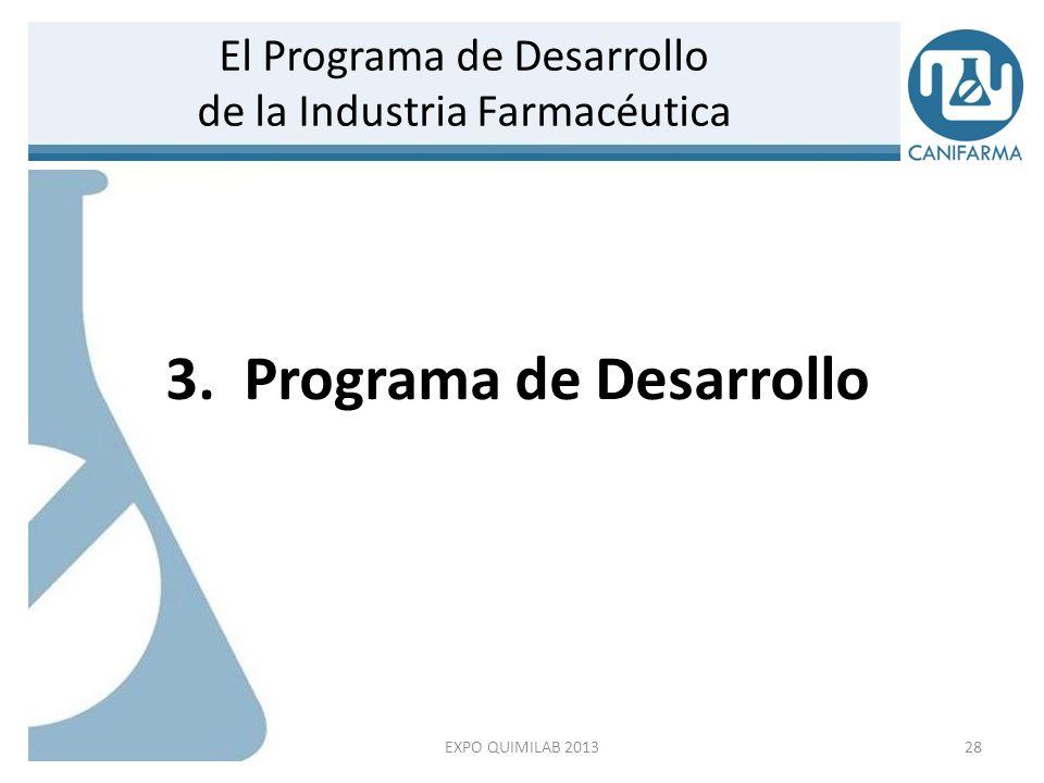 29 Visión del Sector Farmacéutico para México / En 2018 EXPO QUIMILAB 2013