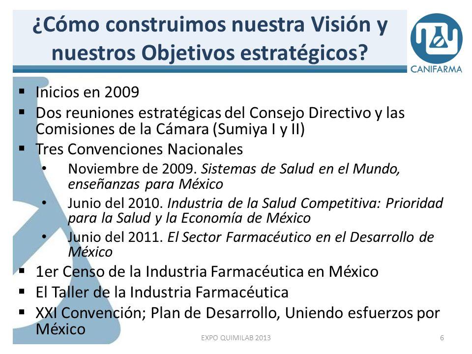 I Reunión Estratégica: SUMIYA I (mayo 2009) 7 CANIFARMA: Una Visión compartida EXPO QUIMILAB 2013
