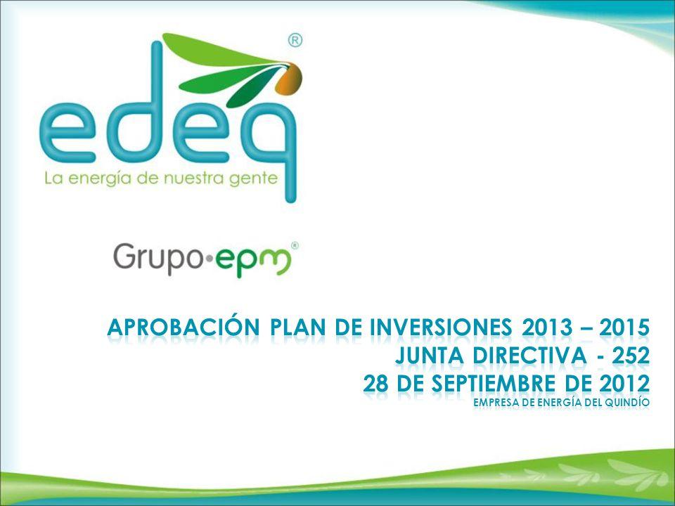 Antecedentes Plan de Inversiones 2013 Plan de Inversiones 2014-2015 CONTENIDO