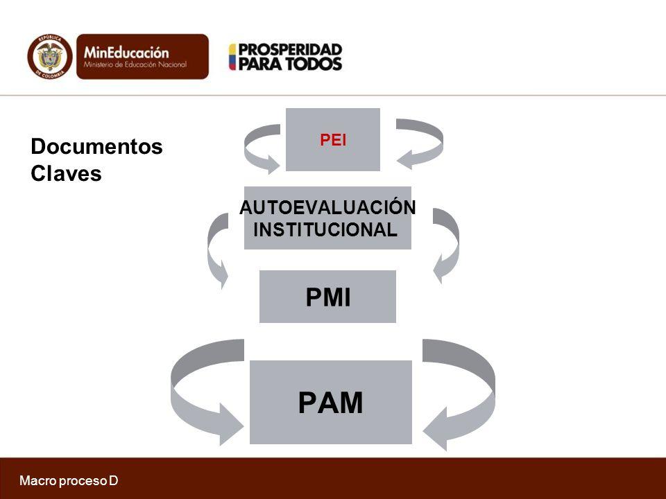 Macro proceso D A.Gestión Estratégica B. Gestión de programas y proyectos C.