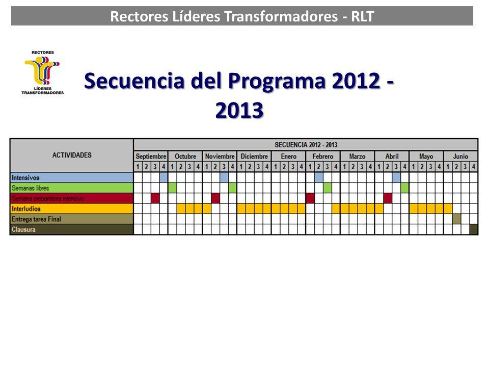 Rectores Líderes Transformadores - RLT Secuencia del Programa 2012 - 2013