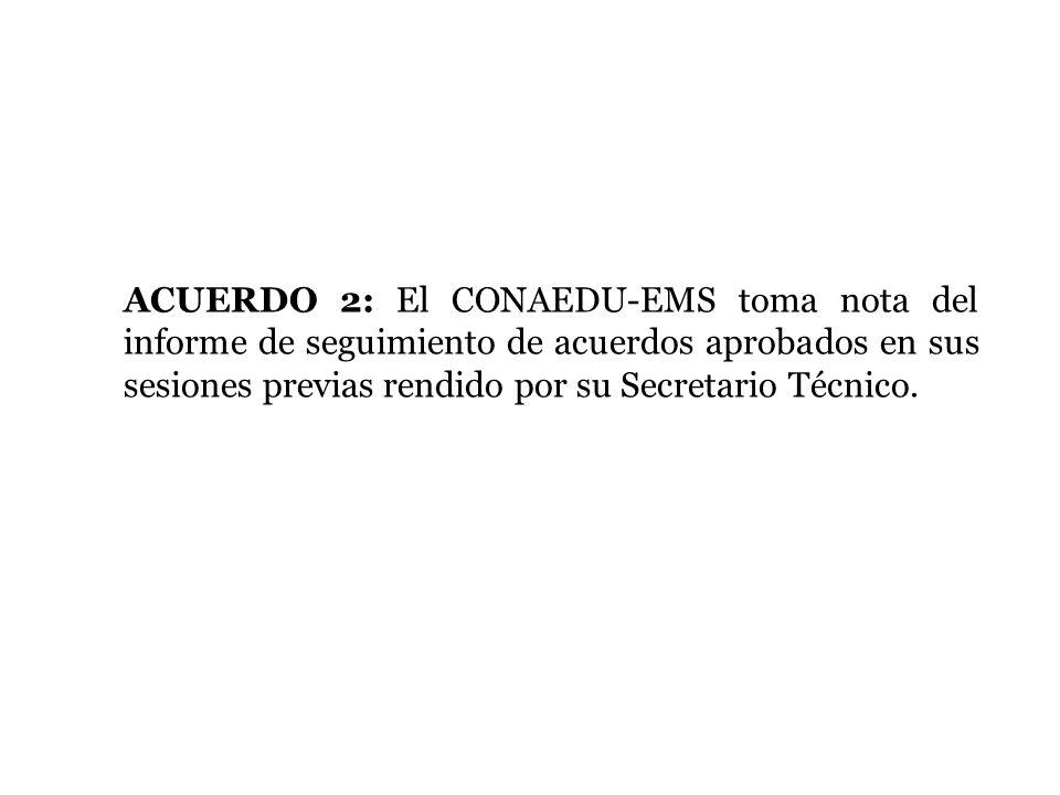 ACUERDO 13: El CONAEDU-EMS toma nota de los avances de la 1ª Fase de la Prueba Piloto del Modelo Mexicano de Formación Dual (MMFD), y acuerda que las entidades federativas interesadas en participar en la 2ª fase de la Prueba Piloto lo hagan del conocimiento de la Subsecretaría de Educación Media Superior de manera formal, a más tardar, el 15 de noviembre de 2013.