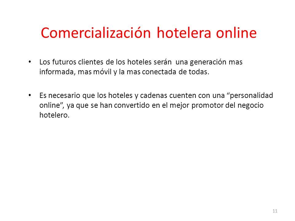 Comercialización hotelera online Los futuros clientes de los hoteles serán una generación mas informada, mas móvil y la mas conectada de todas.