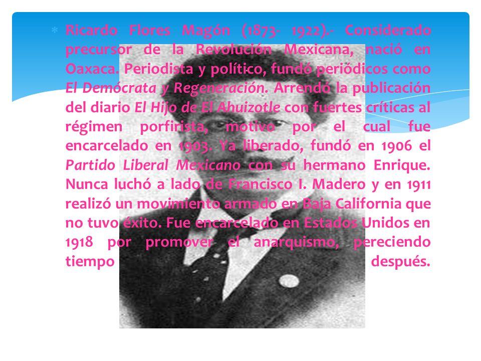 En 1910, cuando la popularidad de Francisco Madero crecía, Porfirio Díaz lo mandó encarcelar y se hizo reelegir por séptima vez. Pero Madero logró esc