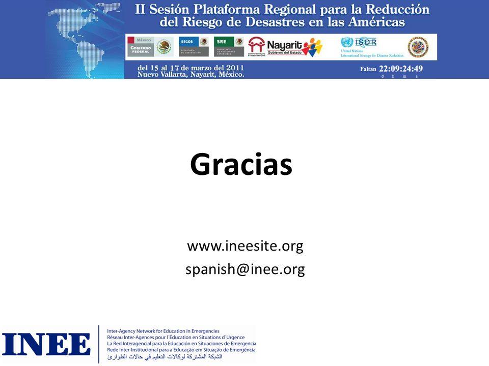 Gracias www.ineesite.org spanish@inee.org
