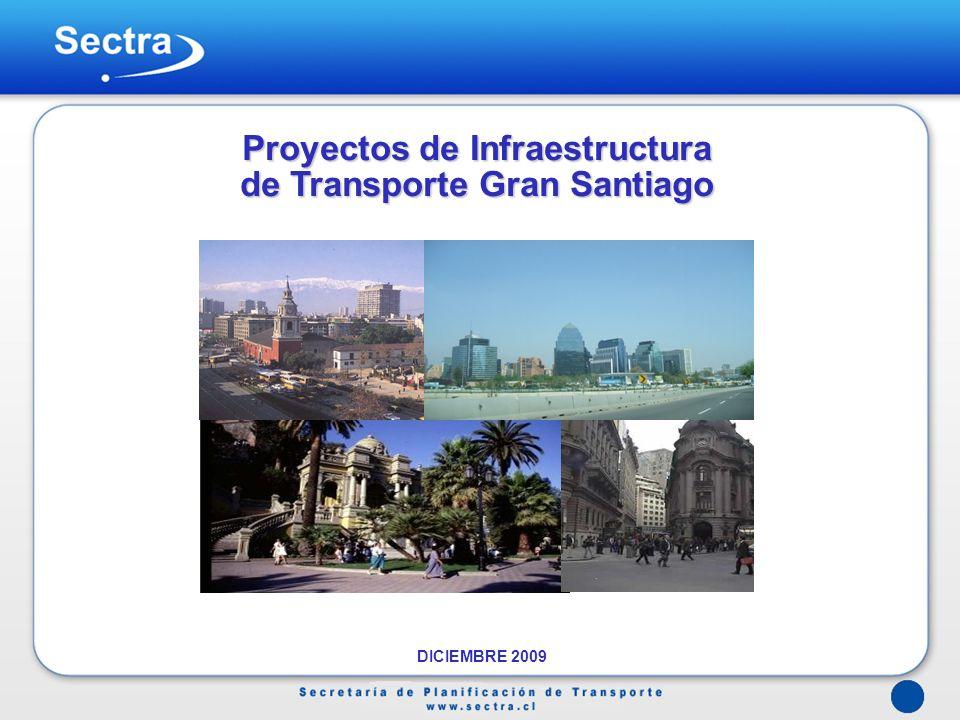 Proyectos de Infraestructura de Transporte Gran Santiago DICIEMBRE 2009