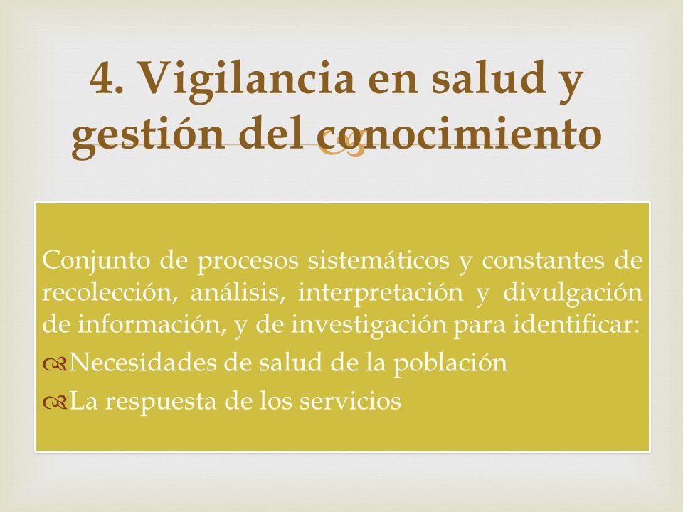 Conjunto de procesos sistemáticos y constantes de recolección, análisis, interpretación y divulgación de información, y de investigación para identifi