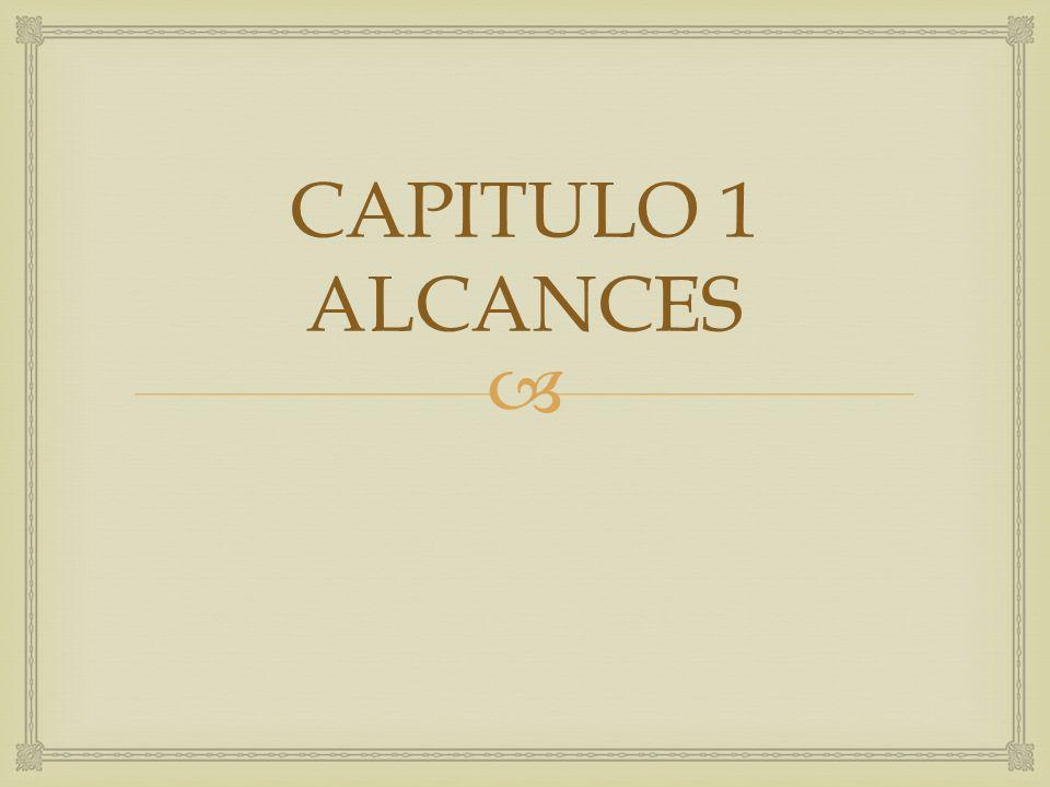 CAPITULO 1 ALCANCES