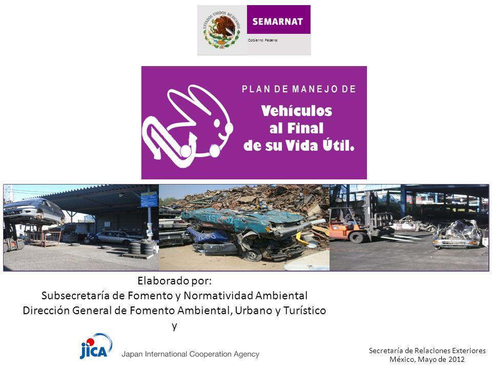 Gobierno Federal México, Mayo de 2012 Elaborado por: Subsecretaría de Fomento y Normatividad Ambiental Dirección General de Fomento Ambiental, Urbano